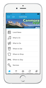 Canmore App, Canmore Alberta