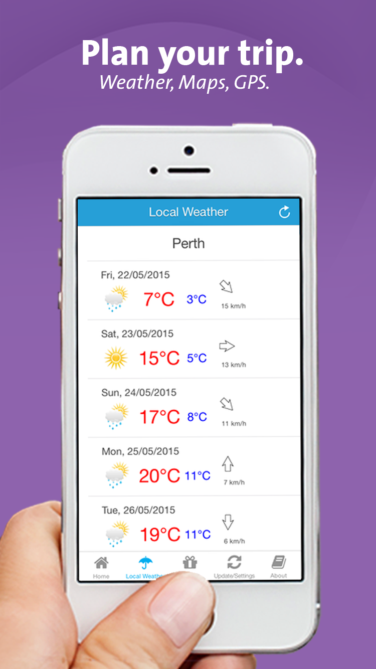 Plan your trip - weather,maps, gps